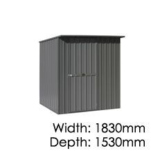 Garden Master Shed Sloping - 1530x1830mm
