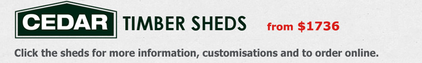 Cedar Timeber Sheds