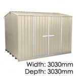 """Galvo GVO3030 """"Desert Sand"""" Shed - Floor Included (pickup deal)"""