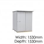 Galvo GVO1515 Zincalume Garden Shed - Floor Kitset Included (pickup deal)