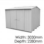 Galvo GVO3023 Zincalume Garden Shed - Floor Kitset Included (pickup deal)