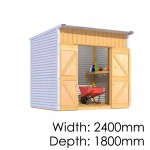 The Sheds Smith Classic Lean To 2418 Shed