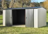 Duratuf Garden Shed - MK4C Sliding Doors Open