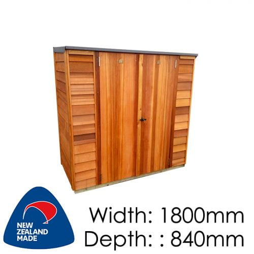 Garden Sheds NZ Cedar-Locker-1808-500x500