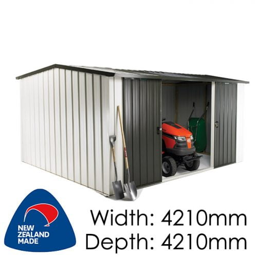 Duratuf Kiwi MK4C 4210x4210 Garden Shed available at Gubba Garden Shed
