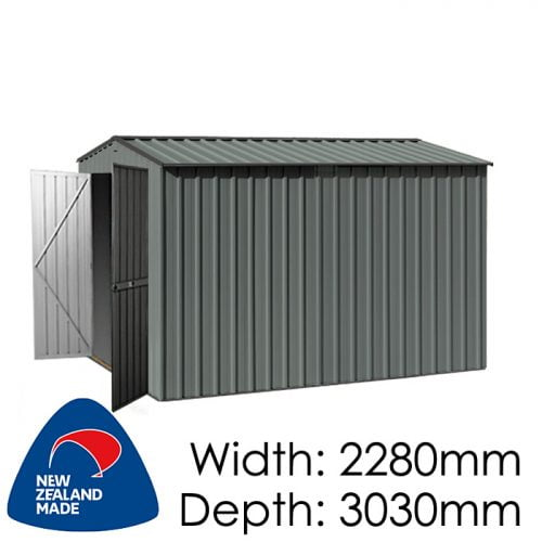 Garden Master GGM3023EE 2280x3030 Special End Entry Garden Shed available at Gubba Garden Shed