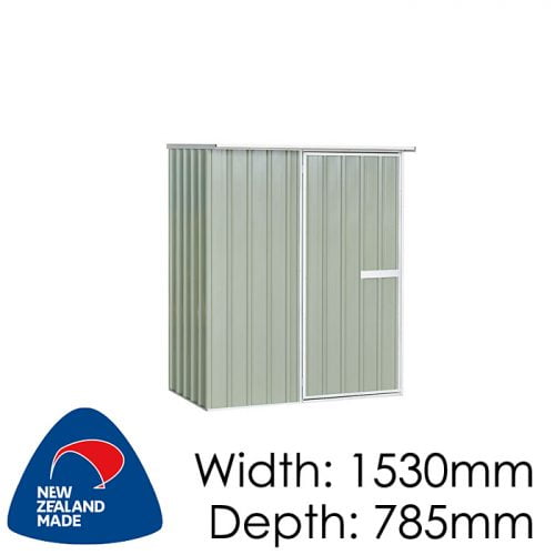 "Galvo GVO1508 1530x785 ""Hazy Grey"" Garden Shed available at Gubba Garden Shed"