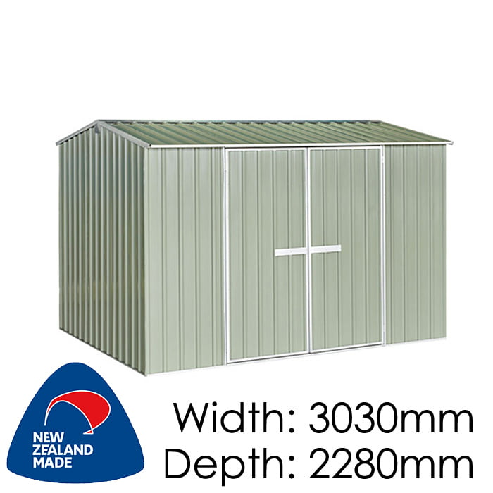 "Galvo GVO3023 3030x2280 ""Hazy Grey"" Garden Shed available at Gubba Garden Shed"
