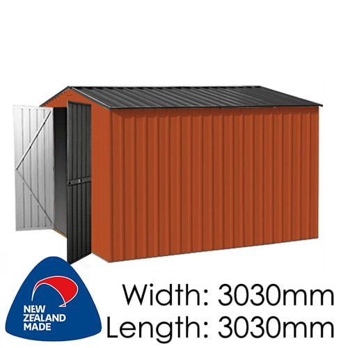 Garden Master GGM3030EE 3030x3030 – Special End Entry Garden Shed available at Gubba Garden Shed