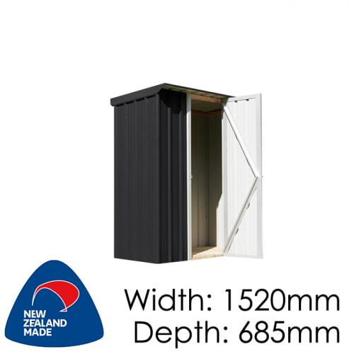 SmartStore Locker SM1507 1520x685 Ebony Shed available at Gubba Garden Shed