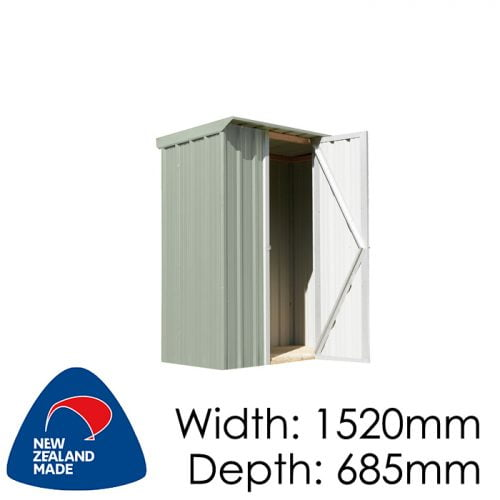 SmartStore Locker SM1507 1520x685 Mist Green Shed available at Gubba Garden Shed