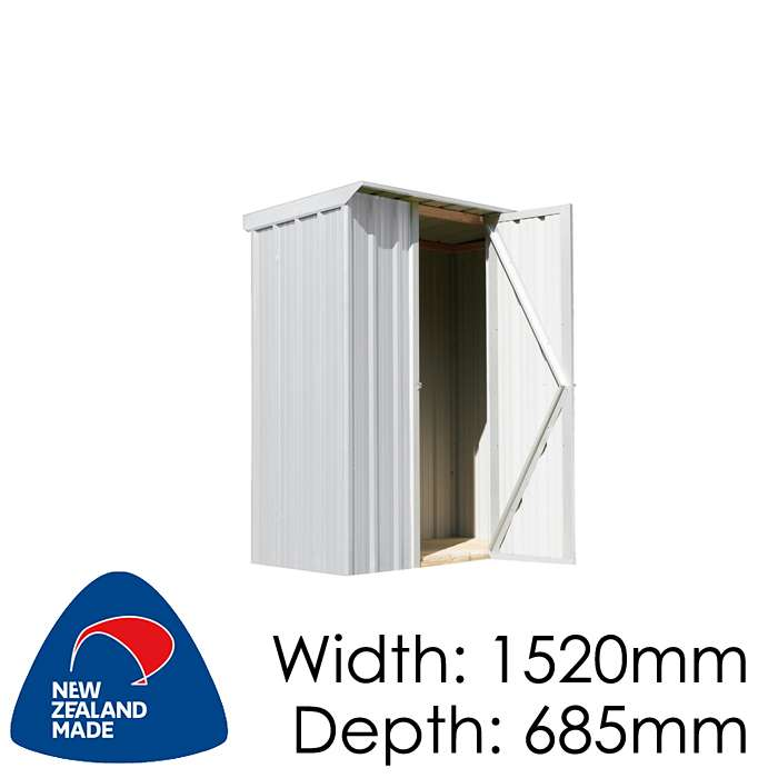 SmartStore Locker SM1507 1520x685 Zincalume Shed available at Gubba Garden Shed