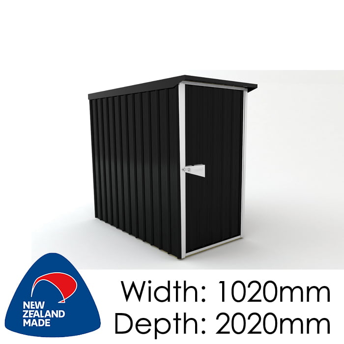 SmartStore Lean-to SM1020 1020X2020 Ebony Shed available at Gubba Garden Shed