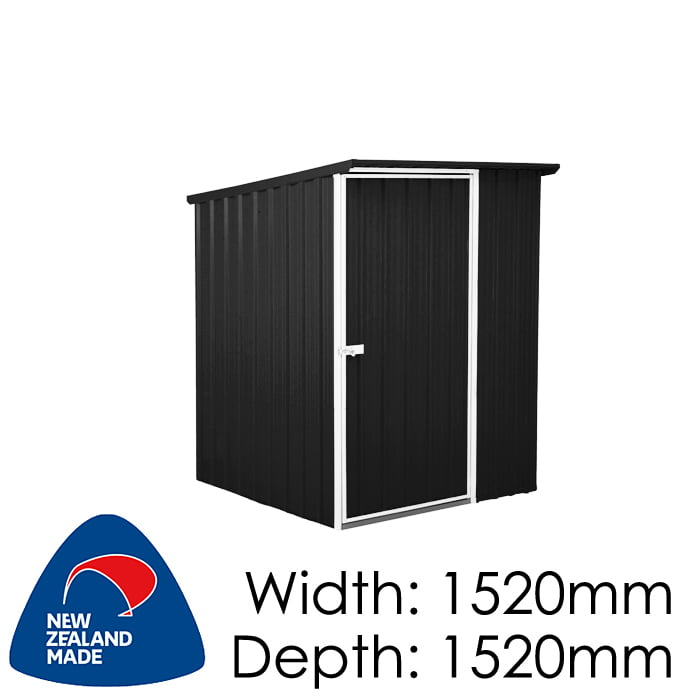 SmartStore Lean-to SM1515 1520x1520 Ebony Shed available at Gubba Garden Shed
