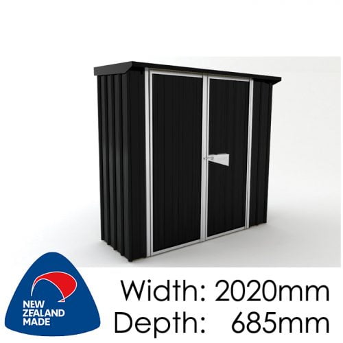 SmartStore Skillion SM2007 2020x685 Ebony Shed available at Gubba Garden Shed