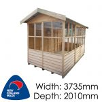 Pinehaven Sinclair Timber NZ Made Garden Shed