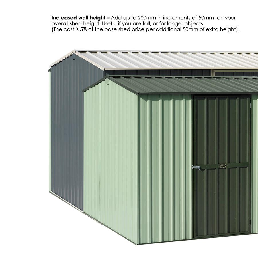 Garden Sheds NZ Garden-Master-Increase-Wall-Height