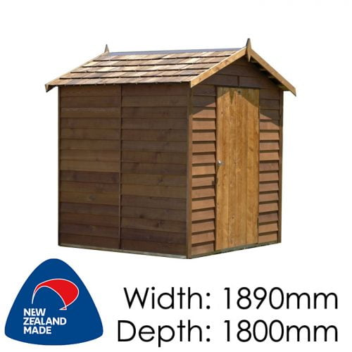 Cedar 1830x1800 Ferndale Timber Garden Shed available at Gubba Garden Shed