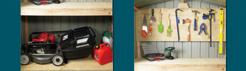 Garden Sheds NZ Duratuf-Built-in-workbench