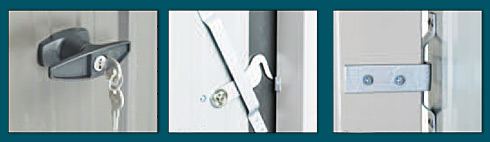 Garden Sheds NZ Duratuf-Door-Security