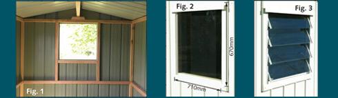 Garden Sheds NZ Duratuf-Windows