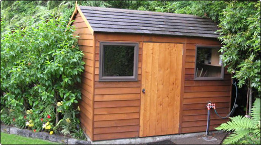 cedar montrose timber garden shed - Wooden Garden Sheds Nz