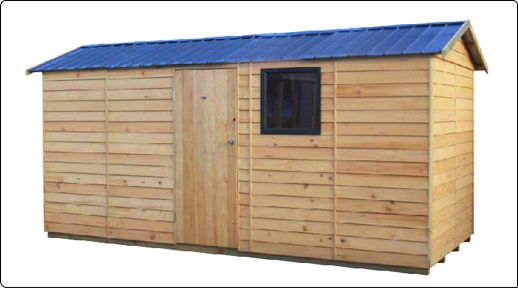 Pinehaven 4500x1900 Haast Timber Garden Shed available at Gubba Garden Shed