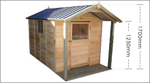 Pinehaven 1400x2000 KK2 Kids Cubby Verandah available at Gubba Garden Shed
