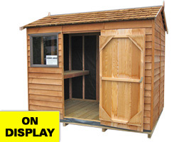 Garden Sheds NZ Cedar-Logan-Display-Shed