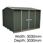 "Galvo GVO3030 ""Karaka"" Shed - Floor Included (pickup deal)"