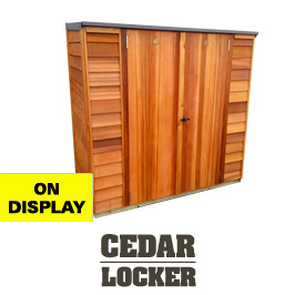 Garden Sheds NZ Cedar-Locker-Display-Shed