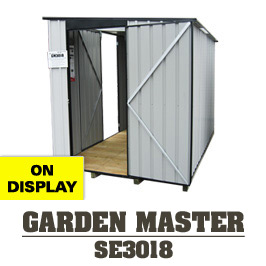 Garden Sheds NZ Garden-Master-3018-Side-Entrance-Display-Shed