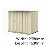 "Galvo GVO2315 ""Desert Sand"" Coloursteel Garden Shed - Floor Kitset Included (pickup deal)"