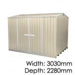 "Galvo GVO3023 ""Desert Sand"" Coloursteel Garden Shed - Floor Kitset Included (pickup deal)"