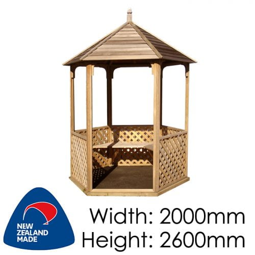Garden Sheds NZ pinehaven-waihi-timber-gazebo-500x500