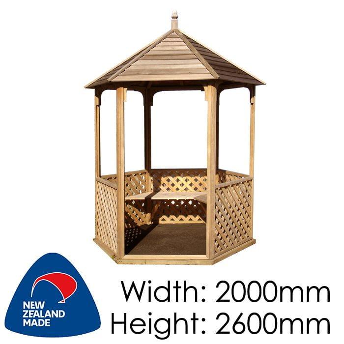 Garden Sheds NZ pinehaven-waihi-timber-gazebo-700x700