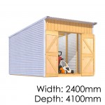 The Shed Smiths Classic Lean To 2441