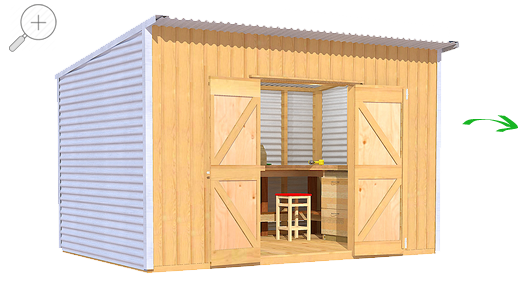 Garden Sheds Nz the shed smiths classic lean-to 3624 - garden sheds nz
