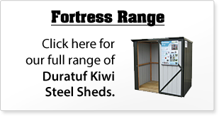 Duratuf Fortress Timber Framed Steel Sheds