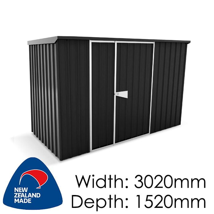 Garden Sheds NZ Smart-Store-SM3015-Ebony-700x700