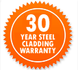 Garden Sheds NZ 30-Year-Steel-Cladding-Warranty