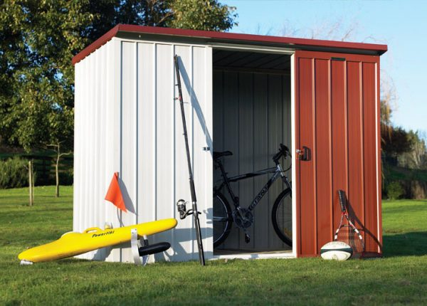 Garden Sheds NZ Duratuf-Kiwi-KL2-Single-Sliding-Door-600x430
