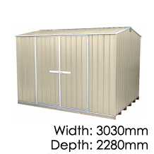 "Galvo GVO3023 ""Desert Sand"" Coloured Steel Garden Shed - Floor Kitset Included (pickup deal)"