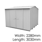 Galvo GVO3023 Zincalume Garden Shed - Floor Kitset Included (pickup deal)