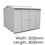 Galvo GVO3030 Zincalume Garden Shed - Floor Kitset Included (pickup deal)