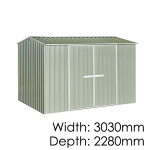 "Galvo GVO3023 ""Hazy Grey"" Garden Shed - Floor Kitset Included (pickup deal)"