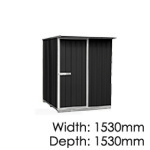 galvo-1515-Ebony-coloursteel-garden-shed