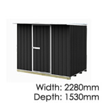 galvo-2315-Ebony-coloursteel-garden-shed