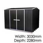 galvo-3023-Ebony-coloursteel-garden-shed
