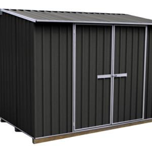 galvo-3030-Ebony-coloursteel-garden-shed